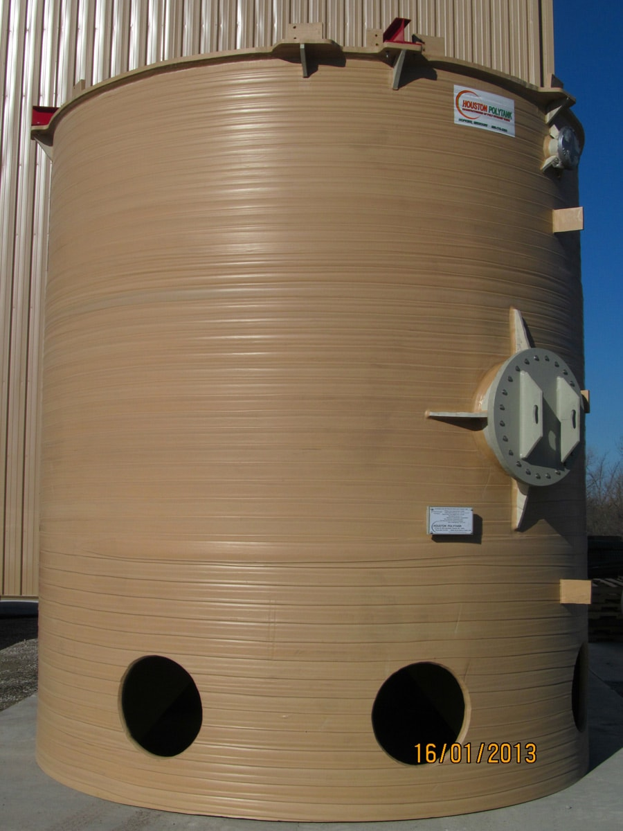 10,000 GL Polypropylene Skirted Cone Bottom Mix Tank