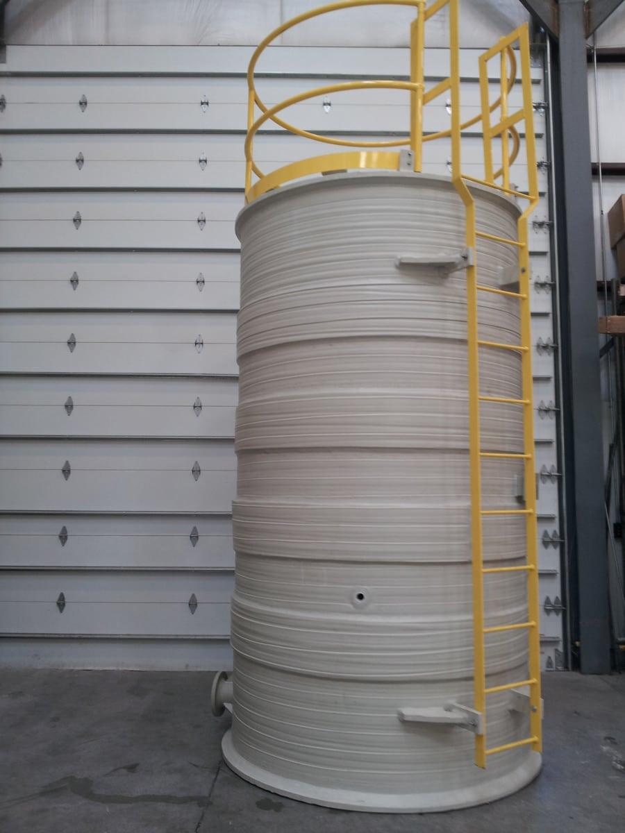 2500-Gl Polypropylene (Co-poly) mix tank