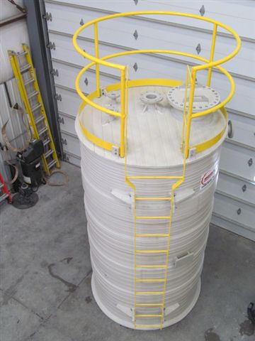 OSHA Compliant Carbon Steel Ladder and Top Handrail