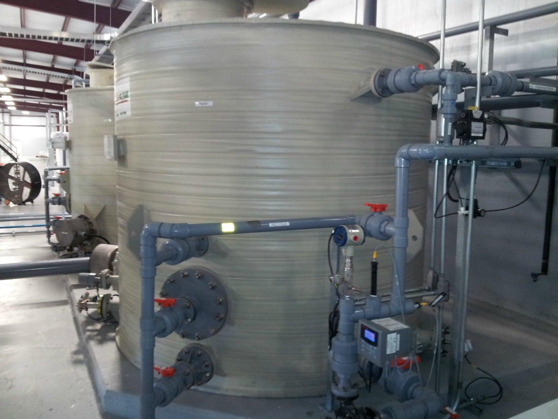Polypropylene Tanks Installed