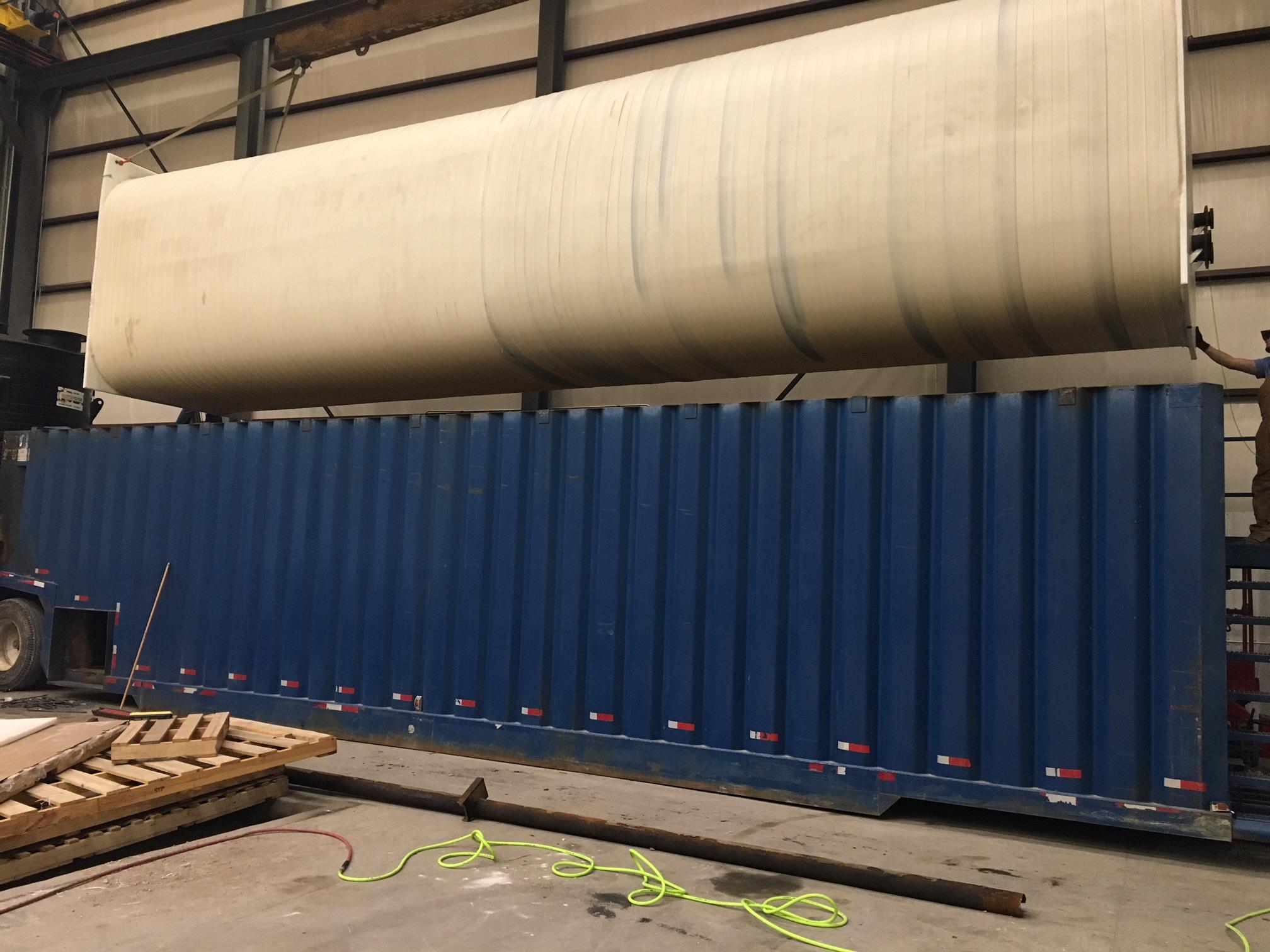 40' Long PE Rectangular Liner for Frac Tank